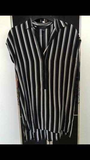 Hemdkleid schwarz weiß