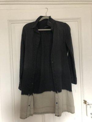 Zara Vestido a media pierna negro-blanco