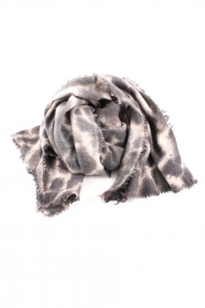 Hemisphere Cashmere Scarf bronze-colored-natural white abstract pattern