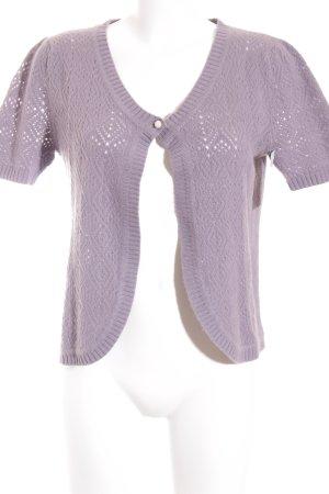 Hemisphere Veste en tricot mauve motif tricoté lâche style classique