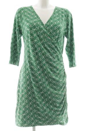 Hemp Age Robe portefeuille blanc-vert motif abstrait style décontracté