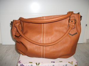 Carry Bag cognac-coloured imitation leather