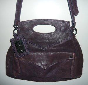 Alex. Max Sac Baril violet-violet foncé cuir