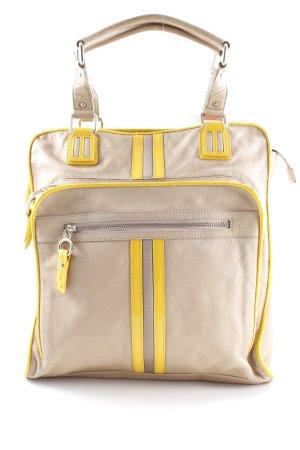 Henkeltasche beige-gelb Casual-Look