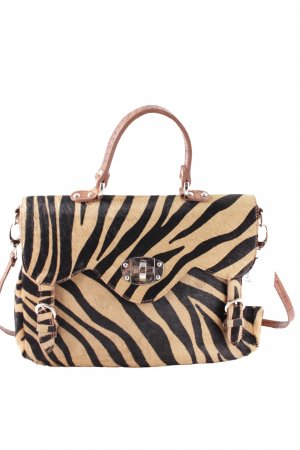 Carry Bag beige-black animal pattern vintage look