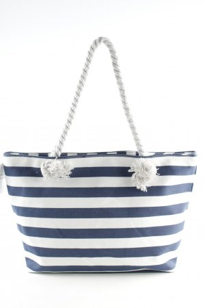 Carry Bag blue-white striped pattern beach look