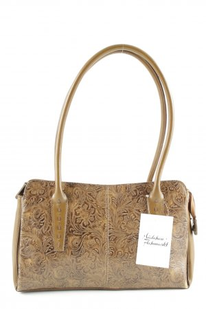 Carry Bag brown floral pattern matte look