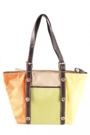 Borsa con manico color block stile casual