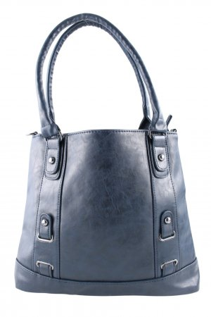 Carry Bag dark blue-silver-colored casual look