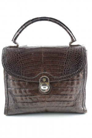 Carry Bag dark brown animal pattern reptile print