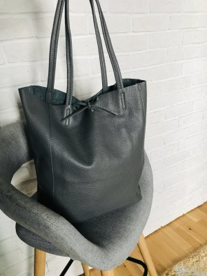 0039 Italy Carry Bag grey leather