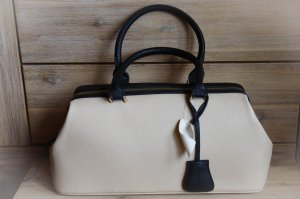 Carry Bag beige-black synthetic