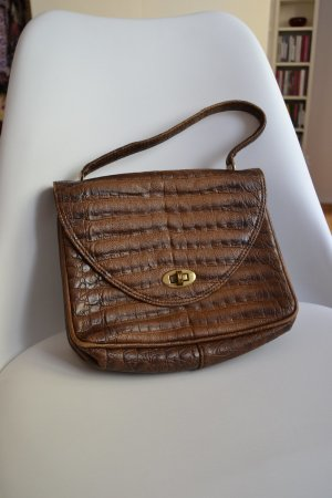 Vintage Carry Bag brown imitation leather