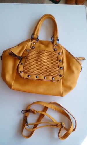 Carry Bag dark yellow leather