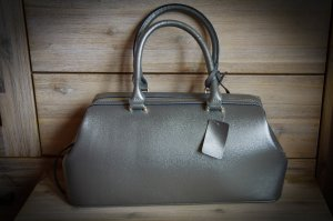 Carry Bag silver-colored imitation leather