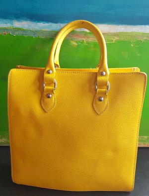 Carry Bag yellow leather