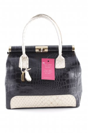 Carry Bag black-cream reptile print