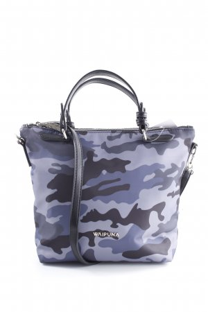 Carry Bag black-dark blue camouflage pattern casual look
