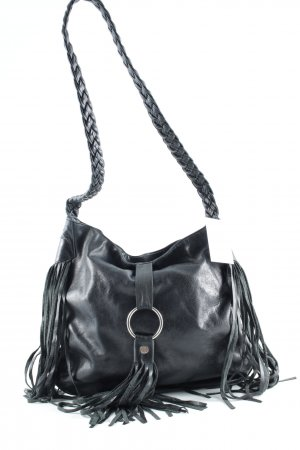 Carry Bag black-silver-colored casual look
