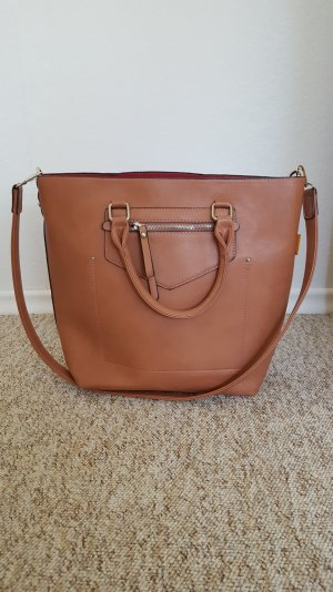 David Jones Handbag nude-pink imitation leather