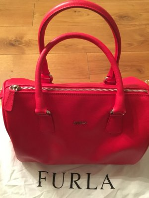 Furla Bowling Bag red-gold-colored leather
