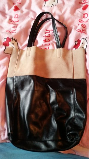 H&M Carry Bag black-beige
