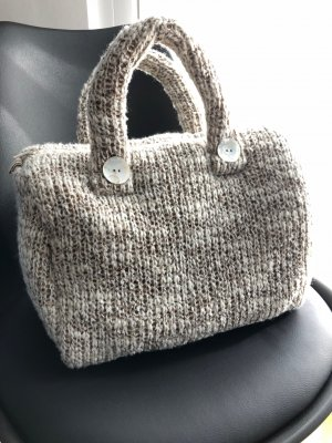 Carry Bag beige-oatmeal wool