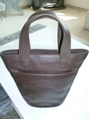 voi Carry Bag dark brown leather