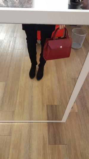 Borsa con manico rosso scuro-carminio