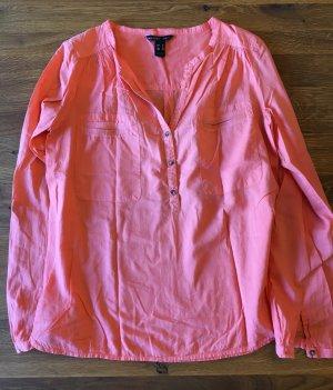 #Henley #Bluse #Turn-up Sleeve #Mango