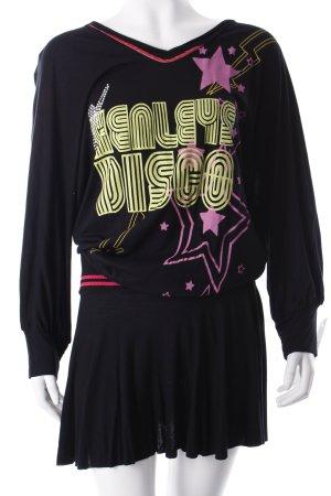 Henley's Vestido estilo camisa estampado temático estilo extravagante