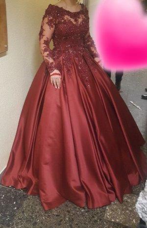 Wedding Dress dark red