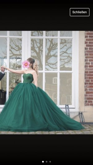 Wedding Dress dark green