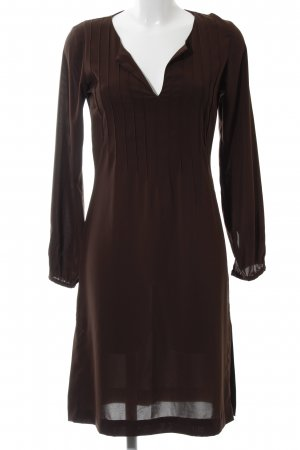 Hennes Blusenkleid braun Business-Look
