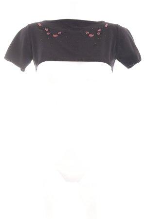 Hennes Collection by H&M Cropped Shirt schwarz extravaganter Stil