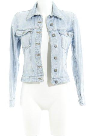 Hennes Collection by H&M Veste en jean bleu azur style classique