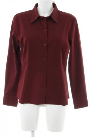 Hennes Collection by H&M Langarmhemd bordeauxrot Elegant