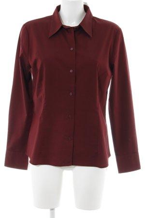 Hennes Collection by H&M Camisa de manga larga burdeos elegante