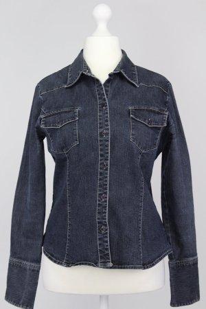 Hennes Jeansbluse blau Größe 40 1711310040322