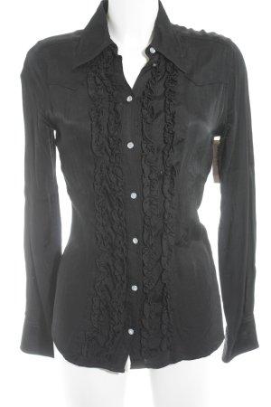 Hennes Langarm-Bluse schwarz Business-Look