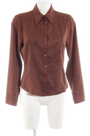 Hennes Camicia a maniche lunghe marrone stile professionale