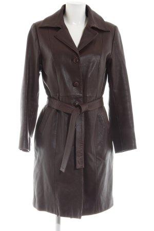 Hennes Leather Coat bronze-colored elegant