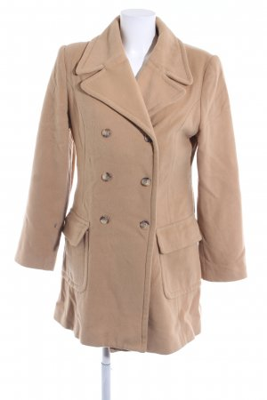 Hennes Wollmantel camel-apricot Nude-Look