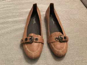 Henry Beguelin Mary Jane Ballerinas light brown-brown leather