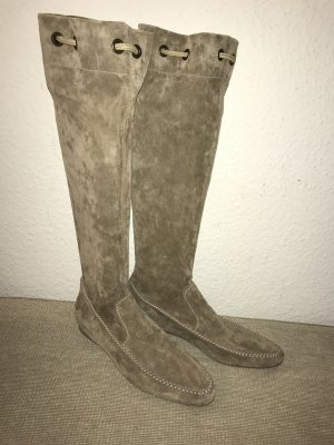 Henry Beguelin Stiefel 41 beige Wildleder Lederstiefel