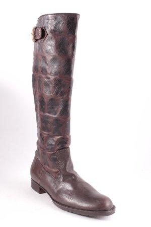 Henry Beguelin Botas estilo militar marrón estampado con diseño abstracto