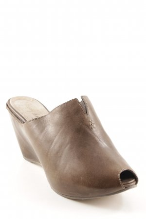 Henry Beguelin Wedges Sandaletten graubraun Casual-Look