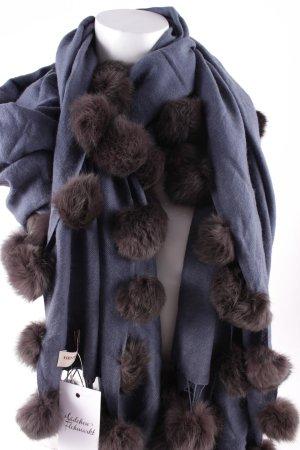 Henry Christ Stola graublau-graubraun Street-Fashion-Look