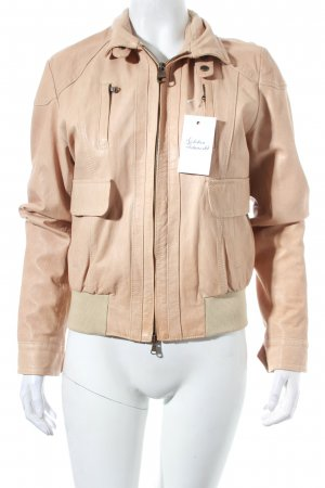Henry Cotton's Lederjacke nude Casual-Look