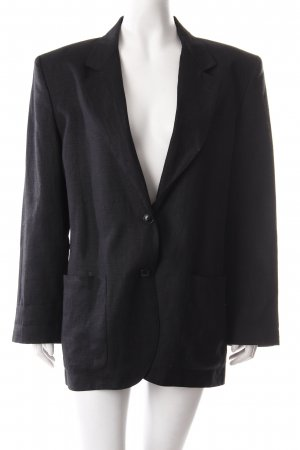 Henry Cotton's Long-Blazer schwarz Business-Look